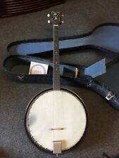 Vintage HARMONY TENOR BANJO Bluegrass Folk 4 String Musical Instrument Case