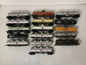 C134- Mixed Lot Of HO Scale Tank Cars, As Is