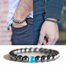 Magnetic Bracelet Weight Loss Slimming Pro Bio 8mm Beads Natural Stone GIFT UK
