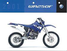 Motorcycle Brochure - Yamaha - WR250F - 2001 (DC493)