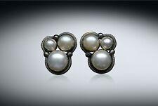 Sale-Nwt Amy Kahn Russell Triple Grade Aaa Pearl Sterling Clip/Post Earrings