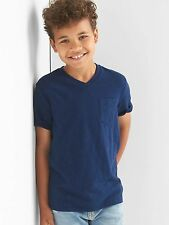 NWT GAP KID BOY'S ELYSIAN BLUE SHORT SLEEVE V-NECK POCKET TEE (XXL) 14-16
