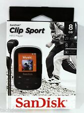 SDK008GA46K - SANDISK SDMX24-008G-A46K 8GB Clip Sport MP3 Player (Black) @NEW@