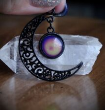 Necklace Pastel Goth/Occult/Witch/Gothic/ Alt/Grunge/90s Black Crescent Moon Mood