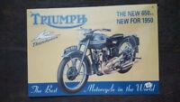 TRUMPH Thunderbird Placa metalica litografiada publicidad 41 x 28 cm. replica