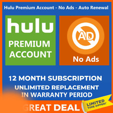 Hulu Premium account + No Ads ✅Lifetimes Account ✅WARRANTY ✅ Auto renewal