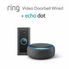 BRAND NEW Ring Video Doorbell Wired by Amazon + Echo Dot (3rd Gen) FREE P&P