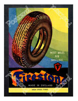Historic Firestone tyres 1900s Advertising Postcard