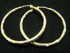 10K Gf Diamond Cut Hoop Earrings Vintage Sterling Jcm 925 & 1/20