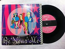 - 45 GIRI VINILE  MARTIN FRY MARK WHITE  BE NEAR ME/ A TO Z  NUOVO D'EPOCA