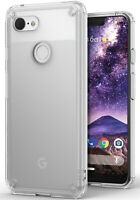 For Google Pixel 3 XL   Ringke [FUSION] Clear Shockproof TPU Bumper Cover Case