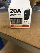 (5 Pack)Square D Hom120 Hom120Cp Circuit Breaker 20 Amp 1 Single Pole 120V