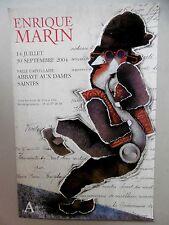 Affiche originale Enrique MARIN 2004 Musique Collage  Surrealism Séville Espagne