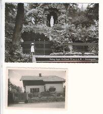 AK + Foto: Peiting in Oberbayern Kr Weilheim-Schongau - Lourdesgrotte & Wohnhaus