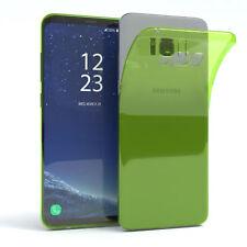 ULTRA SLIM COVER PER GALAXY s8 Plus Custodia Guscio in Silicone Verde trasparente