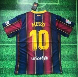 Messi Barcelona 20/21 Home Jersey (1 Day Shipping)
