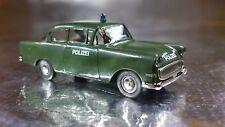 * Brekina 20006 Police Vehicle Dark Green Opel Rekord PI 1:87 HO Scale