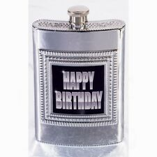 Happy Birthday Silver Flask For the Birthday Gentleman Party Supplies Fun 6-1B