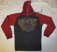 MENS SWEATSHIRT SMALL 34/36 HOODIE HOODED PULLOVER CHEVROLET CAR HORSEPOWER SM!!