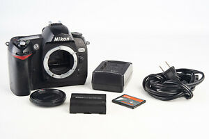 Nikon D70 6.1MP Digital SLR Camera Body with 4GB CF Card Battery & Charger V16