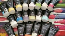 20 assorted craft paints.Crown paint with sponge applicator water based paints.