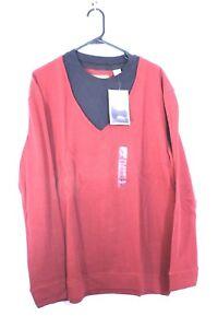 Sun river mens shirt layered look long sleeve red/black size medium NEW