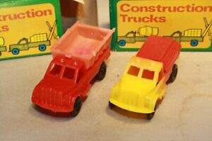 1960s Lumber & Dump Truck Set Made in Hong Kong Mint in Box