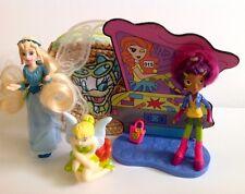 DISNEY's Daisy Duck bag Tinkerbell Figure & BANDAI FIGURA con sfondo