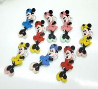 20pcs Mixed Colours Minnie Mouse wooden Buttons Sewing Scrapbooking Buttons 35mm