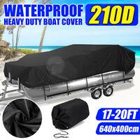 17-20Ft 210D Heavy Duty Waterproof Trailerable Pontoon Boat Cover Beam 96''