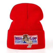 Bubba Gump Shrimp Co. Forrest Gump Costume Embroidered Red Knit Cuff Beanie