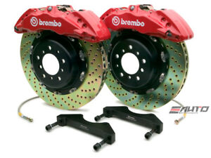 Brembo Front GT Brake BBK 6pot Red 380x34 Drill Chevy GMC 2500 00-06 H2 03-07