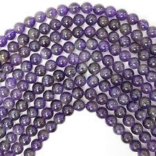 "6mm amethyst round beads 15.5"" strand"