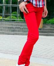 Mens Boy Skinny Stretch Denim Tightfitting Korean Jean Pants Slim Trouser Chic