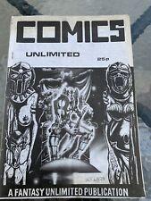 RARE VINTAGE FANZINE HAND MADE COMICS FANTASY UNLIMITED 1970's