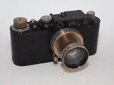 Leica I/II conversion Black Paint 35mm rangefinder camera and 5 cm f/2 Summar