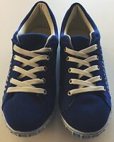 Qube Suede Royal Blue studded lace up shoes. Brand new with box Size 6 UK, 39 EU