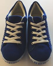 Qube Suede Royal Blue studded lace up shoes. Brand new with box Size 5 UK, 38 EU