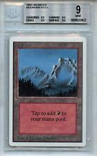 MTG Unlimited Mountain BGS 9.0 (9) Mint Magic Card WOTC 2822