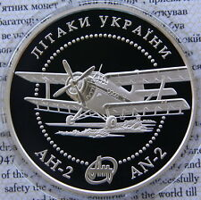 Ukraine 10 UAH 2003 RARE PROOF 1 OZ Silver COA  AN-2 Aircraft Airplane
