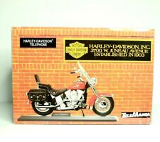 Telemania Harley Davidson Motorcycle Heritage Softail Flame Corded Telephone
