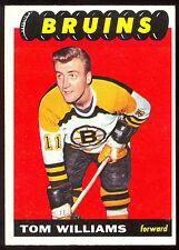 1965 66 TOPPS HOCKEY #35 Tom Williams EX-NM BOSTON BRUINS CARD