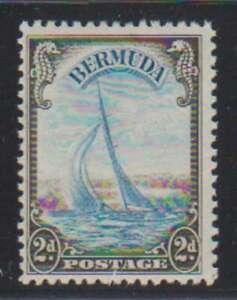 A4557: Bermuda #109 Mint, OG, F-VF, LH; CV H