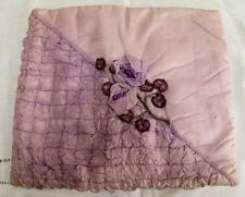 VINTAGE anni 1930 LILLA Trapuntato & ribbonwork Fiore Pajama nigthgown CASE