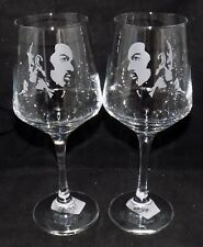 "New Etched ""GEORGE MICHAEL"" Wine Glass(es) - Free Gift Box - Large 390mls Glass"