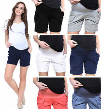 Mija - Maternity pregnancy shorts pants trousers with over bump panel 1047