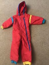 Lands End 2T Snow Suit Red Winter Warm Hooded