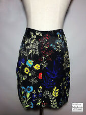 VERSACE J COUTURE BOTANICAL PRINTED MINI SKIRT FLOWER HERB PANSY THISTLE ITALY