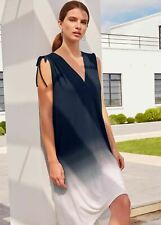 Phase Eight Oska Ombre Beach Kaftan Dress Navy/White Size UK10 RRP69
