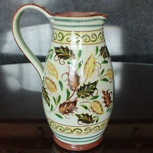 """Glyn Colledge Design Denby Pottery Jug, Hand-Painted 8.75"""" 1960's"""